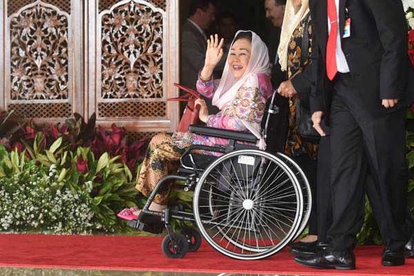 Istri Mantan Presiden Abdurrahman Wahid, Sinta Nuriyah Wahid. - ANTARA/Akbar Nugroho Gumay