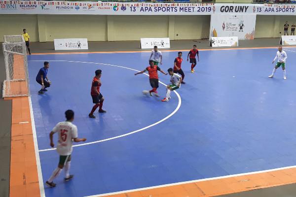 Tim futsal Indonesia, yang terdiri dari atlet gabungan Pelindo II dan Pelindo IV, memenangkan pertandingan melawan Malaysia dengan skor telak 10-0 dalam ajang acara Asean Port Association (APA) Sports Meet 2019, Rabu (18/9 - 2019) di Yogyakarta