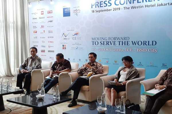 Konferensi pers TEI 2019, Rabu (18/9 - 2019). / dok. Kemendag