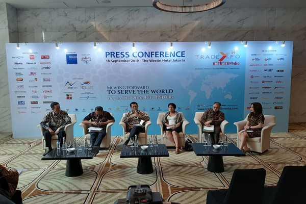 Konferensi pers TEI 2019, Rabu (18/9 - 2019). - dok. Kemendag