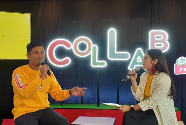 SVP Head of Brand Management & Strategy of Indosat Ooredoo Fahroni Arifin berbagi cerita soal showcase spesial IM3 Ooredoo yang akan diadakan di acara YouTube FanFest pertama di Bandung, 21-22 September 2019. - Bisnis/Hadijah Alaydrus