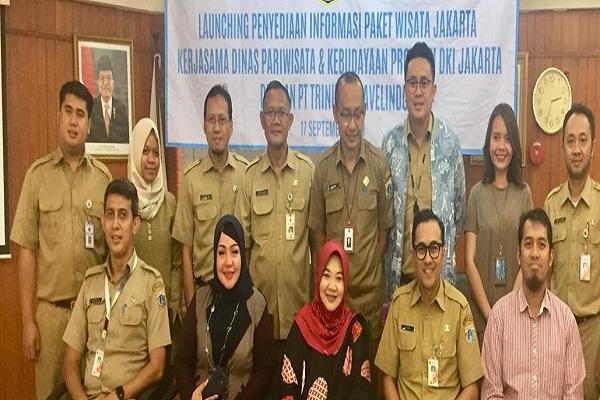 Perwakilan Traveloka dan Dinas Pariwisata dan Kebudayaan DKI Jakarta menyediakan informasi paket wisata Jakarta yang terintegrasi. - Istimewa