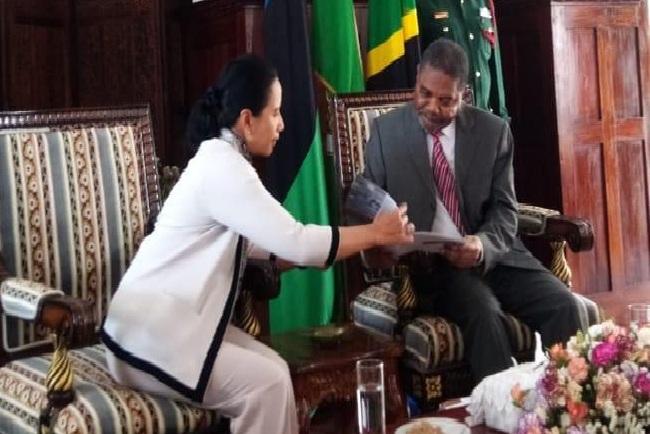 Menteri BUMN Rini M Soemarno bertemu dengan Presiden Zanzibar Ali Muhammad Shein, Rabu (18/9/2019). - Istimewa