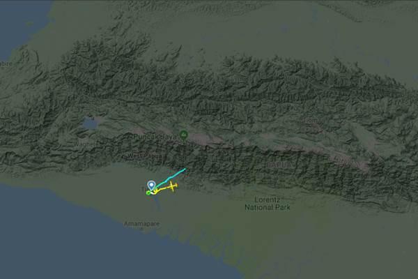 Rekaman penerbangan wTin Otter nomor registrasi PK-CDC milik PT Carpendiem yang tertangkap radar - flightradar24.com