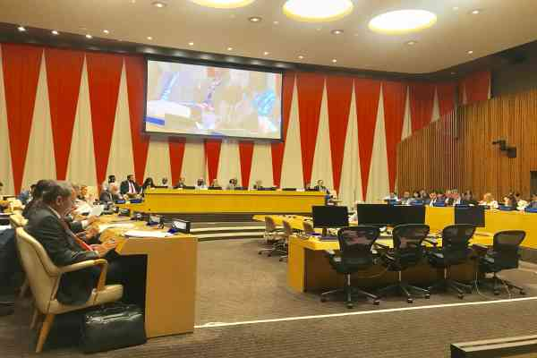 Duta Besar dan Wakil Tetap Indonesia untuk Perserikatan Bangsa-Bangsa (PBB) Dian Triansyah Djani menghadiri pertemuan perdana General Committee (GC) di Markas Besar PBB di New York, Rabu (18/9/2019) - Dokumentasi PTRI New York