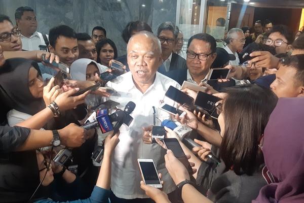 Menteri PUPR Basuki Hadimuljono di kompleks Parlemen Senayan, Rabu (28/8/2019) - Bisnis/Jaffry Prabu Prakoso
