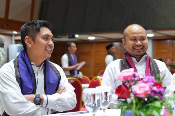 Ketua Umum BPP HIPMI Mardani H. Maming (kiri) dan Ketua Umum HIPMI Jaya Afie Kalla (kanan). - Istimewa