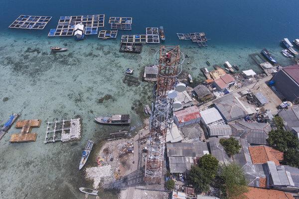 Lanskap di Pulau Panggang, Kepulauan Seribu, Jakarta, Rabu (18/9/2019). - Antara/Muhammad Adimaja