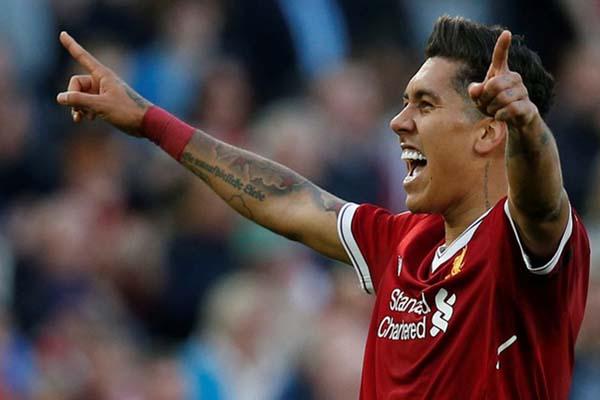 Pemain depan Liverpool FC Roberto Firmino - Reuters/Andrew Yates