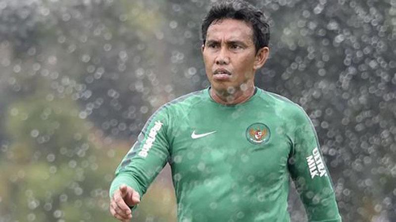 Pelatih Timnas Indonesia u-16, Bima Sakti Tukiman - Antara/Puspa Perwitasari