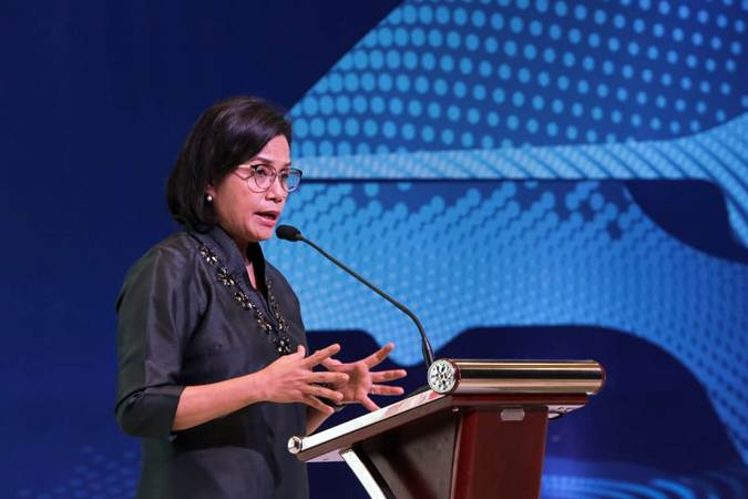 Menteri Keuangan Sri Mulyani . - Bisnis/Felix Jody Kinarwan