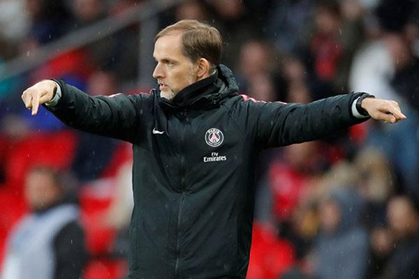 Pelatih Paris Saint-Germain Thomas Tuchel. - Reuters/Charles Platiau
