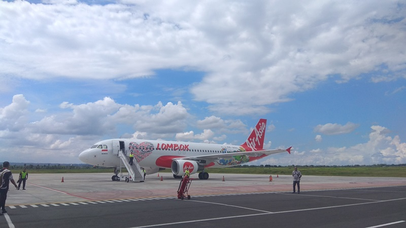 AirAsia Indonesia menjadikan Lombok sebagai salah satu hub./Bisnis - Eka Chandra Septarini