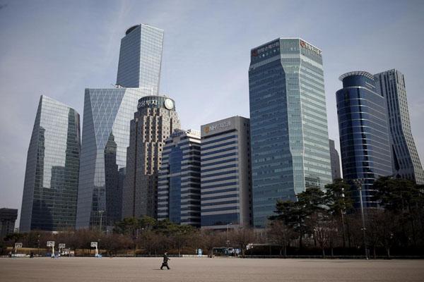 Salah satu wajah pusat bisnis Seoul, Korea Selatan. - Reuters/Kim Hong-ji