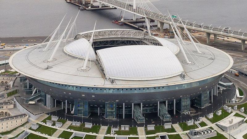 Gazprom Arena di Pulau Krestovsky di St.Petersburg, Rusia. - Wikipedia-Aleksandr Savin