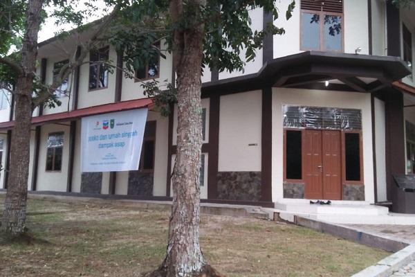 Posko dan Rumah Singgah kerja sama SKK Migas/Chevron, Pemprov Riau dan Politeknik Caltex Riau di Wisma CARI PCR Rumbai.