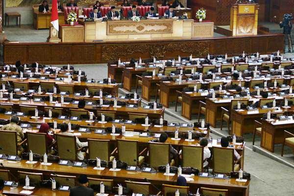 Suasana berlangsungnya Rapat Paripurna DPR Senayan 7 Januari 2019). - ANTARA/Rivan Awal Lingga