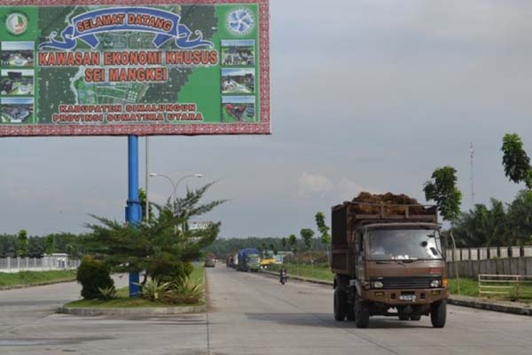 KEK Sei Mangkei di Simalungun, Sumatra Utara - Antara/Muhammad Syafii