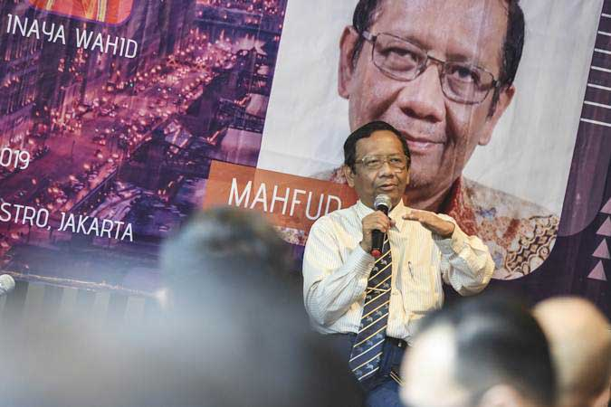 Mantan Ketua Mahkamah Konstitusi Mahfud MD - ANTARA/Muhammad Adimaja