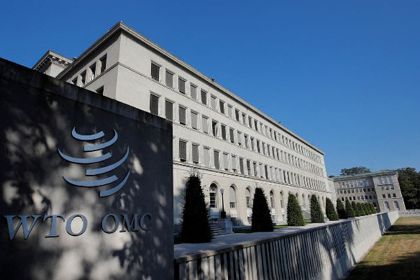 Markas Organisasi Perdagangan Dunia (WTO) di Jenewa, Swiss. - Reuters/Denis Balibouse