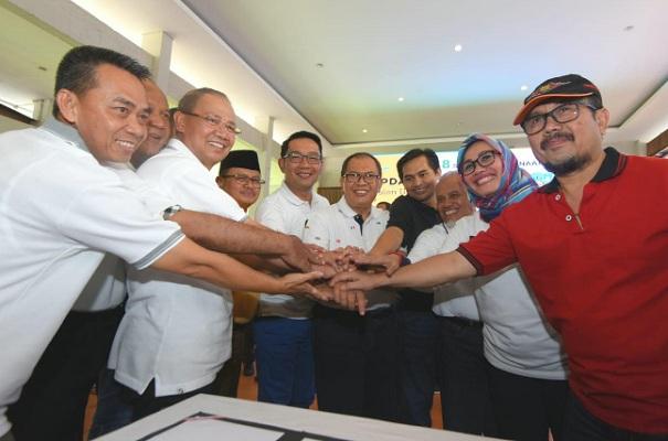 Koordinasi Penyelenggaraan Pemerintah Daerah (KOPDAR) Triwulan III Tahun 2019 di Hotel Pantai Indah Timur Kabupaten Pangandaran, Kamis (26/9/19). - Bisnis/Wisnu Wage