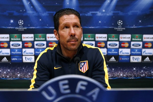 Pelatih Atletico Madrid Diego Simeone. - Reuters/Albert Gea