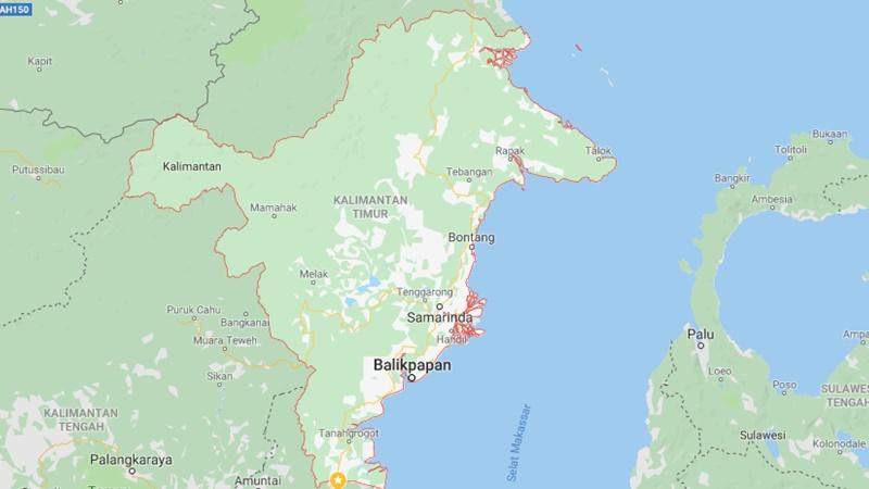 Peta Kalimantan Timur - Repro/Google Maps