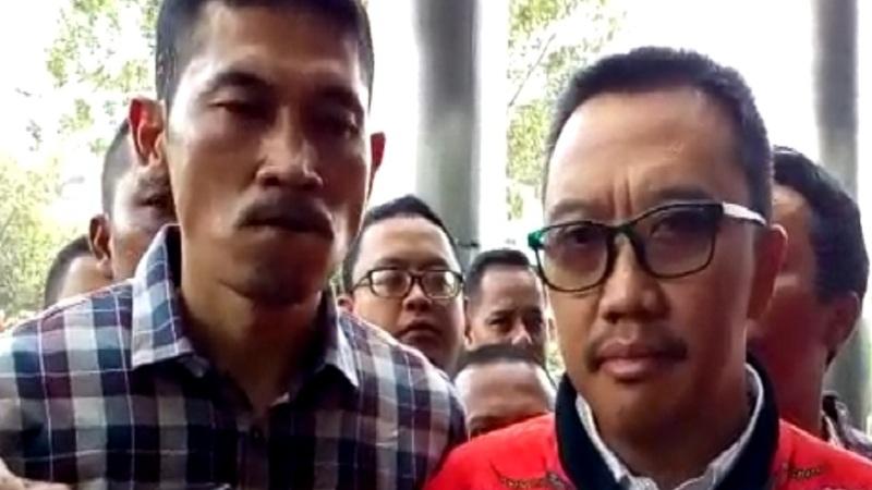 Mantan Menpora Imam Nahrawi penuhi panggilan tim penyidik KPK, Jumat (27/9/2019). JIBI/Bisnis - Ilham Budiman