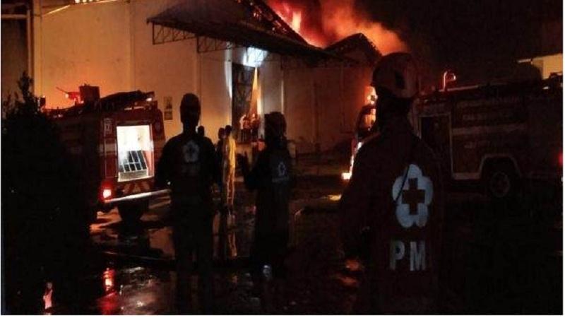 Api melahap gudang kapas PT PT Sri Rejeki Isman (Sritex) Tbk. Kelurahan Jetis, Kecamatan/Kabupaten Sukoharjo, Jumat (27/9/2019) sekitar pukul 21.30 WIB. JIBI - Solopos.com