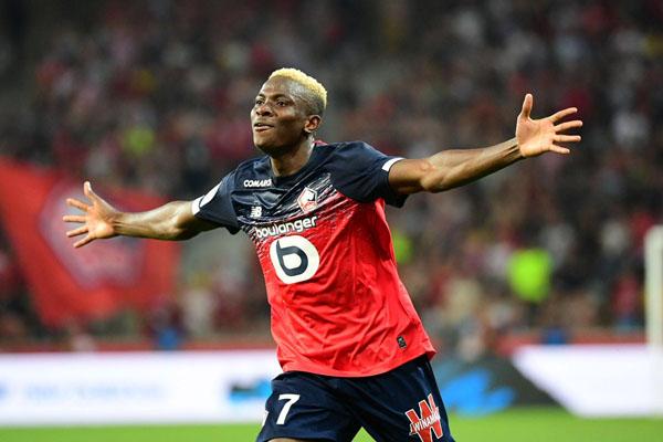 Penyerang klub Ligue 1 Prancis Lille Victor Osimhen. - Twitter