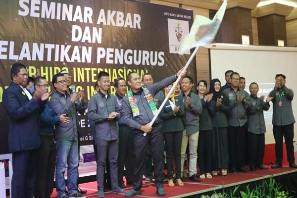 HIPO Internasional Kalsel dibawah kepemimpinan Ali Hasni resmi dikukuhkan. - Bisnis/Arief Rahman