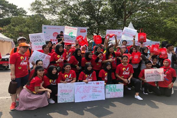 KIBIF Merayakan Hari Ulang Tahun (HUT) ke/24 bertajuk KIBIF 24 TAHUN MEMBERI di arena Care Free Day (CFD), di depan Stasiun MRT Sudirman Dukuh Atas, Jakarta