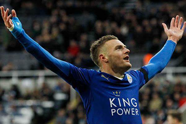 Striker Leicester City Jamie Vardy - Reuters