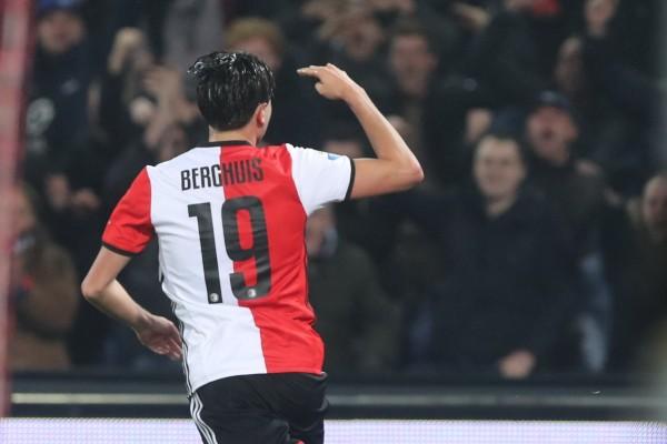 Penyerang Feyenoord Rotterdam Steven Berghuis - Twitter@Feyenoord