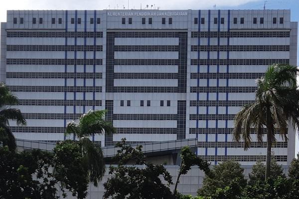 Gedung Kementerian Pendidikan dan Kebudayaan RI di Jakarta. -Bisnis.com - Samdysara Saragih