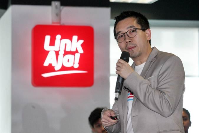 Chief Executive Officer LinkAja Danu Wicaksana memberikan penjelasan, di Jakarta, Kamis (4/7/2019). - Bisnis/Dedi Gunawan