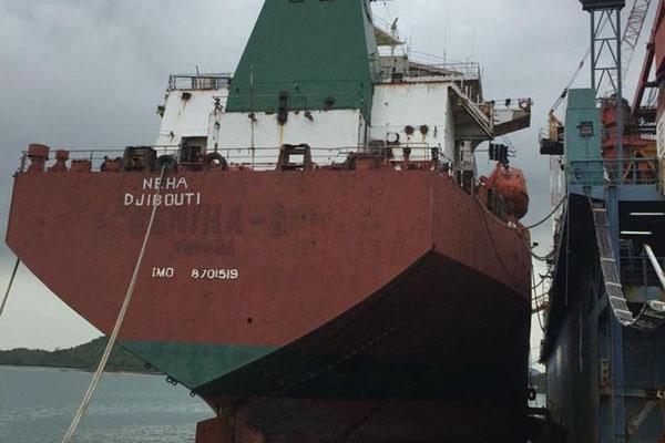 MV Neha di Pelabuhan Batam. - Dok. Hubla Kemenhub