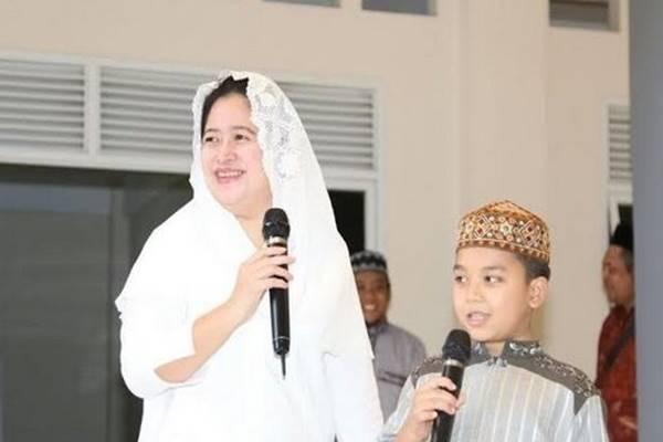 Puan Maharani saat peringatan Hari Santri Nasional, Senin (22/10) - Dok, Kemenko PMK
