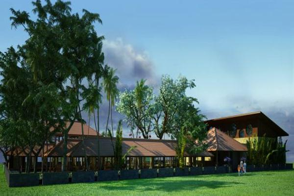 Ilustrasi rumah kayu -