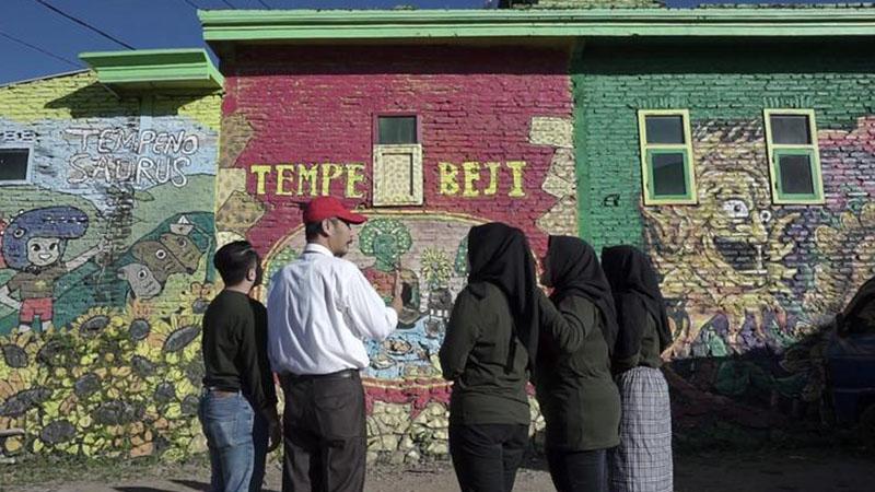 Mahasiswa UMM di Kampung Hijau Tempenosaurus di Kota Batu, Jawa Timur. - Istimewa