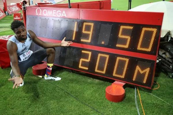 Noah Lyles Juara Dunia Lari 200 Meter Putra. - Reuters/Denis Balibouse