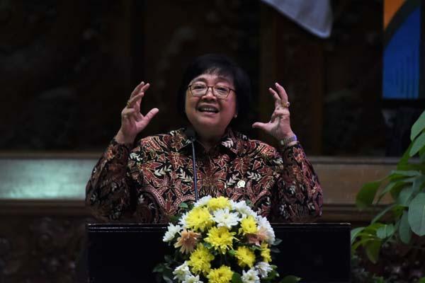 Menteri Lingkungan Hidup dan Kehutanan (LHK) Siti Nurbaya pada acara Festival Iklim di Gedung Manggala Wanabhakti, Rabu (2/10/2019). - Istimewa