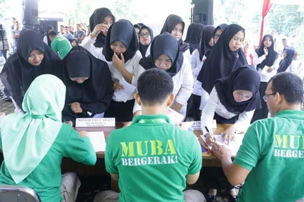 Suasana tes CPNS di Muba beberapa waktu lalu - Istimewa