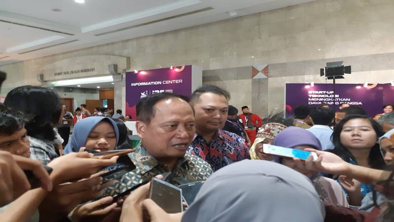 Menristekdikti Mohamad Nasir saat ditemui di JCC, Senayan, Jakarta pada Kamis (3/10/2019). JIBI/Bisnis - Ria Theresia Situmorang
