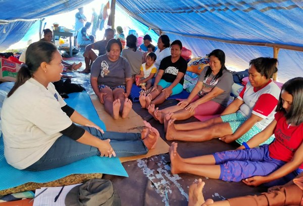 Kondisi pengungsian pascagempa Maluku - BNPB/istimewa