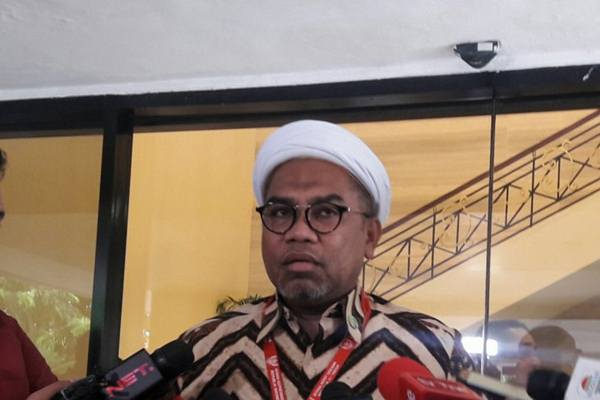 Tenaga Ahli Utama Kedeputian IV Bidang Komunikasi Politik dan Diseminasi Informasi KSP Ali Mochtar Ngabalin. - Antara