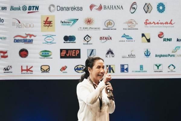 Menteri BUMN Rini M. Soemarno saat menjadi pembicara di IDEAFEST 2019 di Jakarta Convention Center, Jakarta, Jumat (4/10/2019). - Istimewa