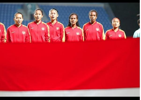 Ilustrasi tim sepak bola wanita Indonesia - Instagram