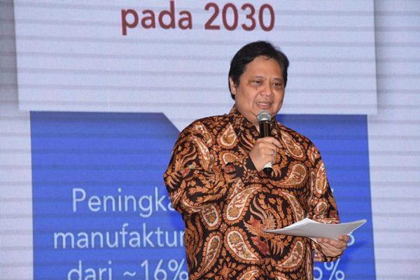 Menteri Perindustrian Airlangga Hartarto menyampaikan optimisme kehadiran unicorn baru - Istimewa