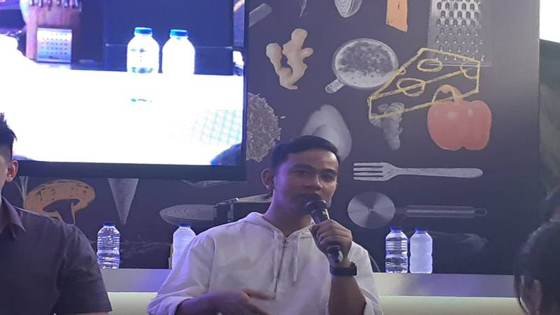 Gibran Rakabuming Raka ditemui dalam Jakarta Culinary Feastival di Jakarta, Minggu (6/10/2019). JIBI/Bisnis - Ria Theresia Situmorang